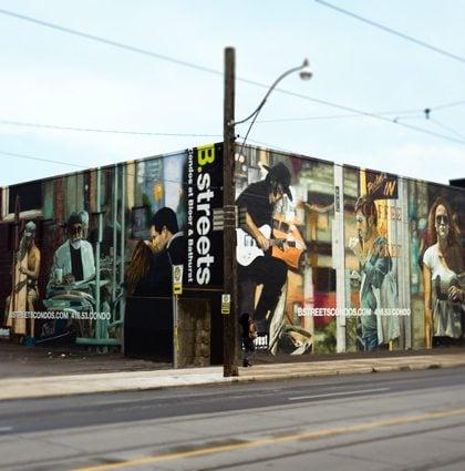 B.streets Condominiums Sales Centre Exterior Mural