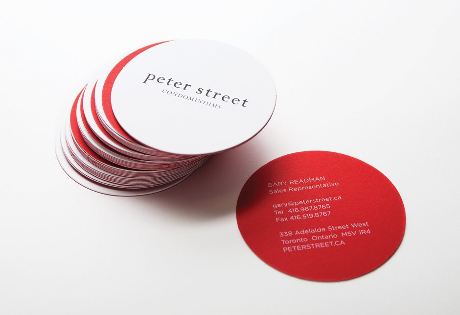 Peter Street Condominiums Stationery Business Cards