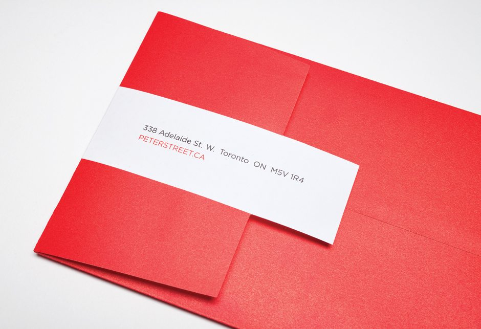 Peter Street Condominiums Stationery Envelope Detail