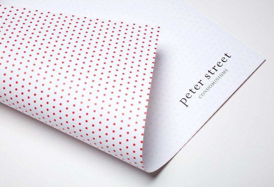Peter Street Condominiums Stationery Letterhead Detail
