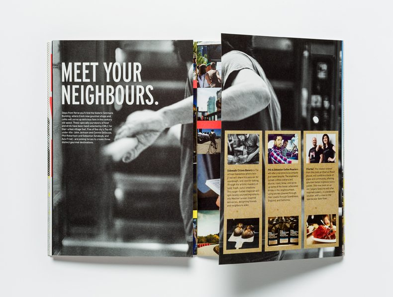 Verve Condominiums Brochure spread Meet Your Neighbours.