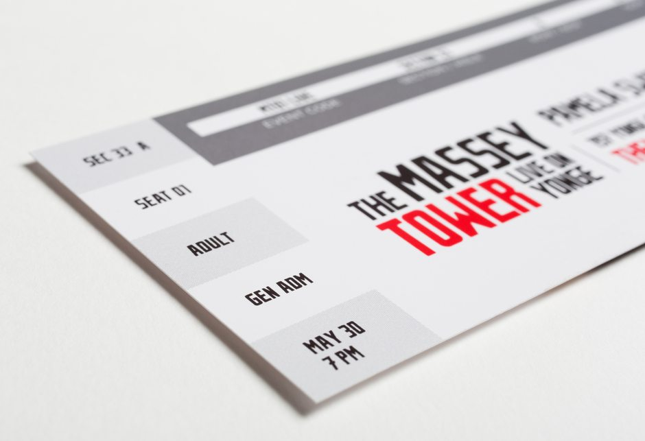 Massey Tower Condominiums Stationery Business Card Ticket detail