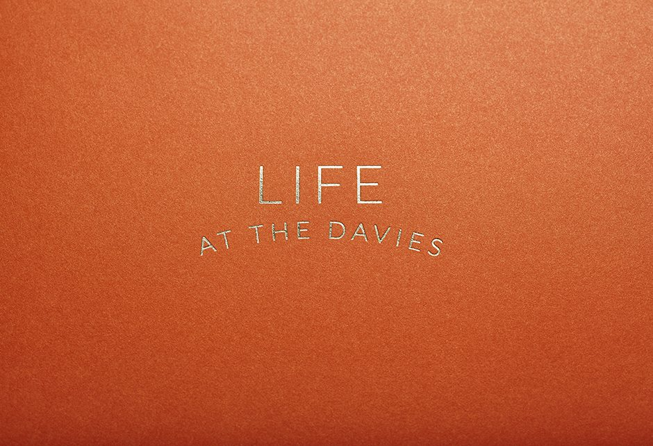 The Davies Brochure Cover Detail