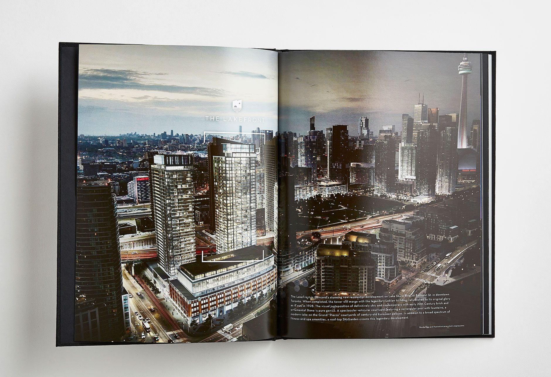 The Lakefront Brochure spread