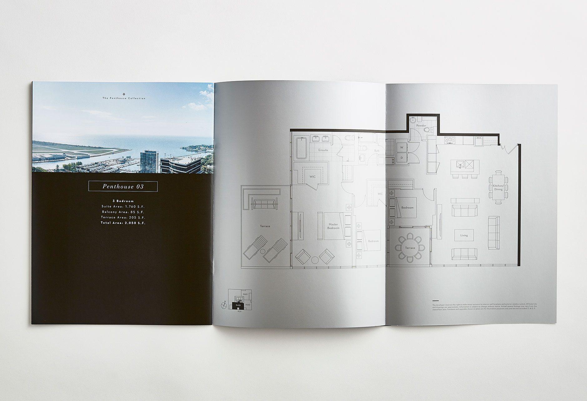 The Lakefront Brochure spread
