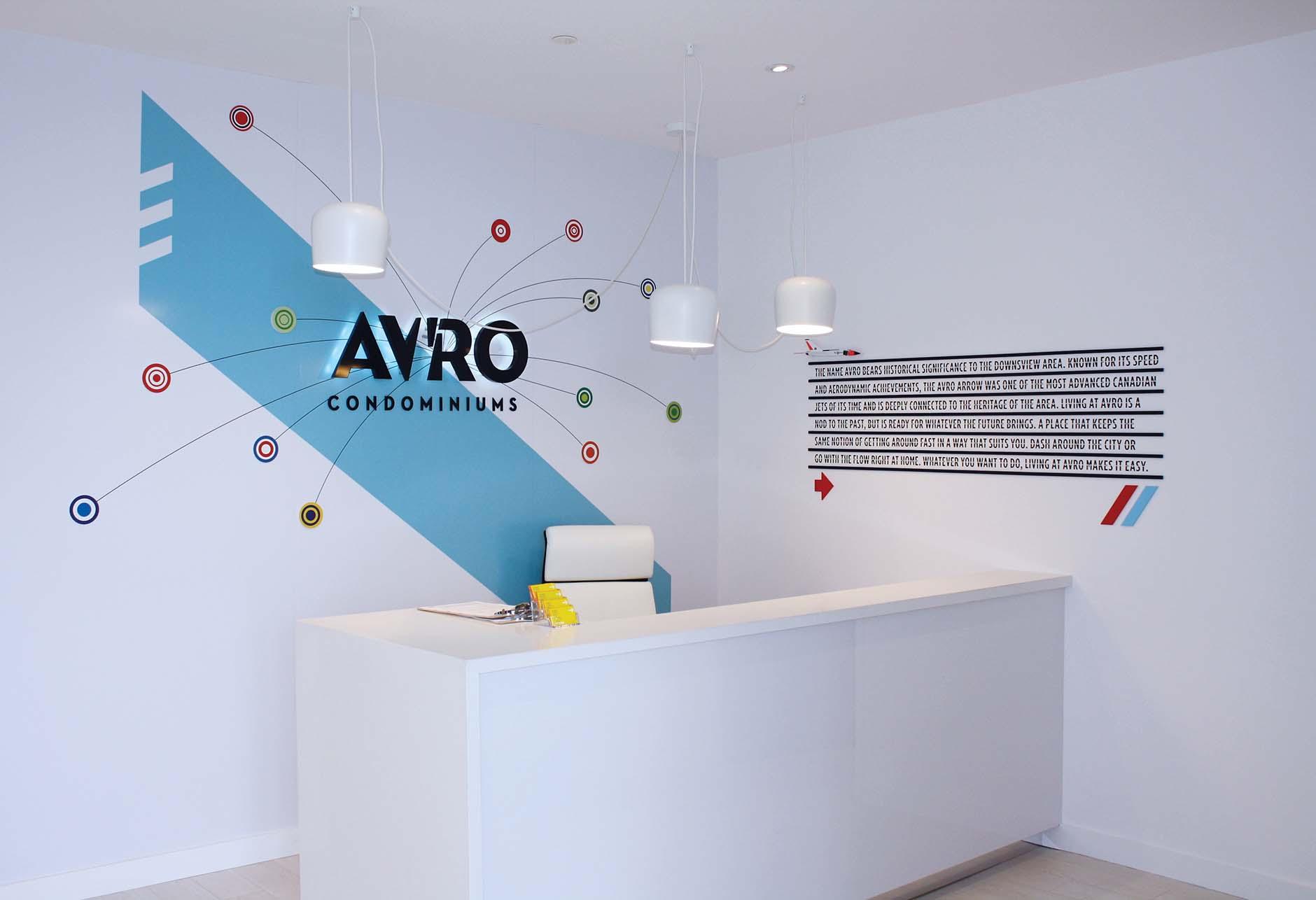 Avro Sales Centre interior reception